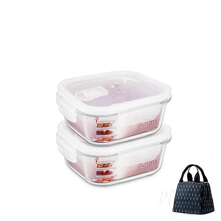 KISlink Caja de Almuerzo de Vidrio Resistente al Calor ...