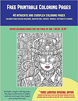 Amazon.com: Free Printable Coloring Pages (40 Complex and ...