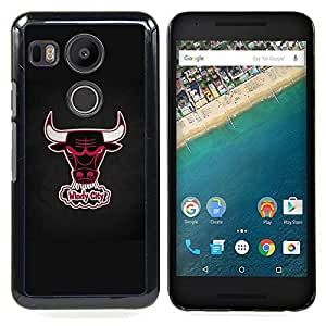 - Windy City Basketball - - Cubierta del caso de impacto con el patr??n Art Designs FOR LG Google Nexus 5X Queen Pattern