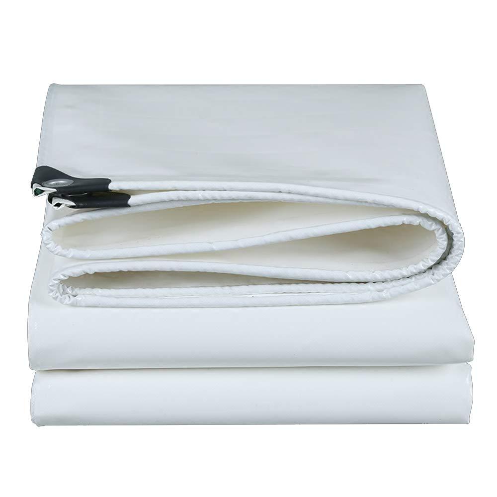 YNN - ターポリン 軽量タフ厚いPVCフィルム布ターポリンタータリン防水日焼け止めターポリン高強度シルク3つの抗布、500g / m2の厚さ0.45ミリメートル (色 : 白, サイズ さいず : 6*7m) 6*7m 白 B07KDTPZ4F