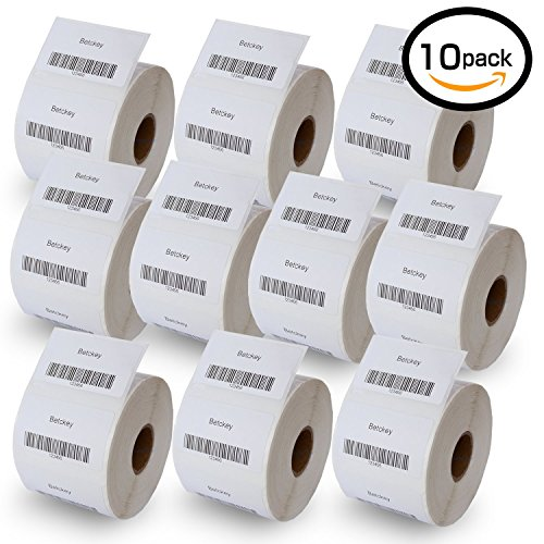 10 Rolls DYMO 30334 Compatible 2-1/4