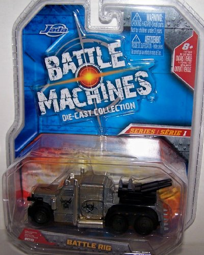 Jada Toys 1/64 Scale Battle Machines Diecast Collection Series 1 Battle Rig in Color Silver Metal -