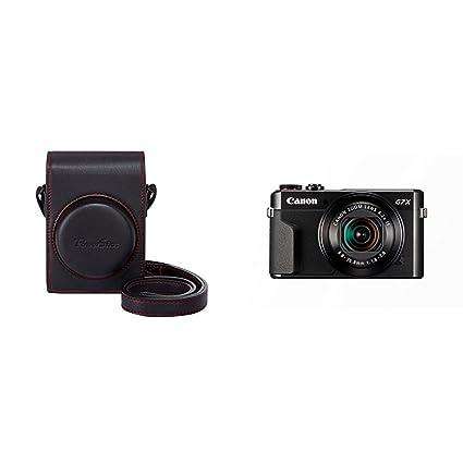 Canon DCC-1880 - Funda para cámara Canon Powershot G7X MK II, negro + Canon PowerShot G7 X Mark II - Cámara digital compacta de 20.1 MP (pantalla de ...