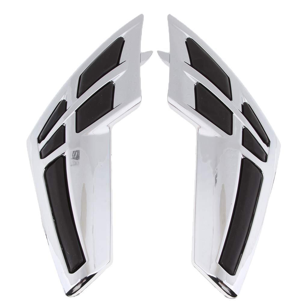 Shiwaki 2 Pieces Chrome Gas Tank Trim Accents Knee Pads Protection for Honda Goldwing GL1800 (2001-2011)
