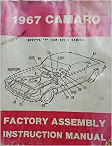 1967 camaro assembly manual download