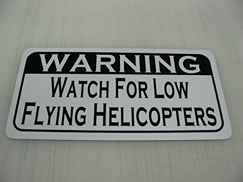 WATCH FOR LOW FLYING HELICOPTERS Vintage Retro Art Deco S...