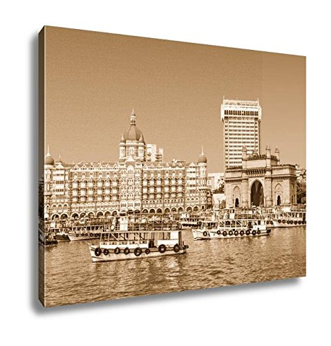 Ashley Canvas Taj Mahal Hotel And Gateway Of India, Home Office, Ready to Hang, Sepia 20x25, AG5933896 by Ashley Canvas (Image #6)
