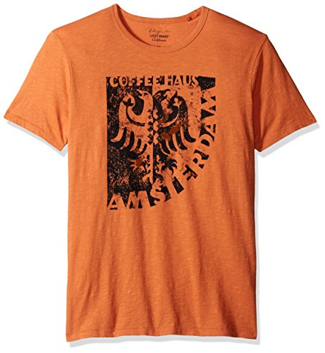 Lucky Brand Men's Amsterdam Graphic Tee, Mineral Orange, (Amsterdam Tee)