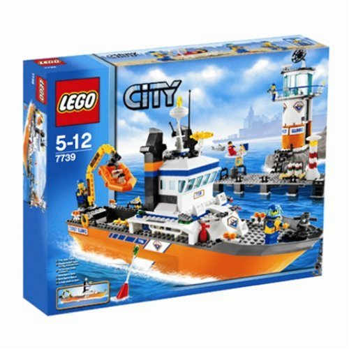 lego city 7739 coast guard patrol boat tower amazoncouk toys games
