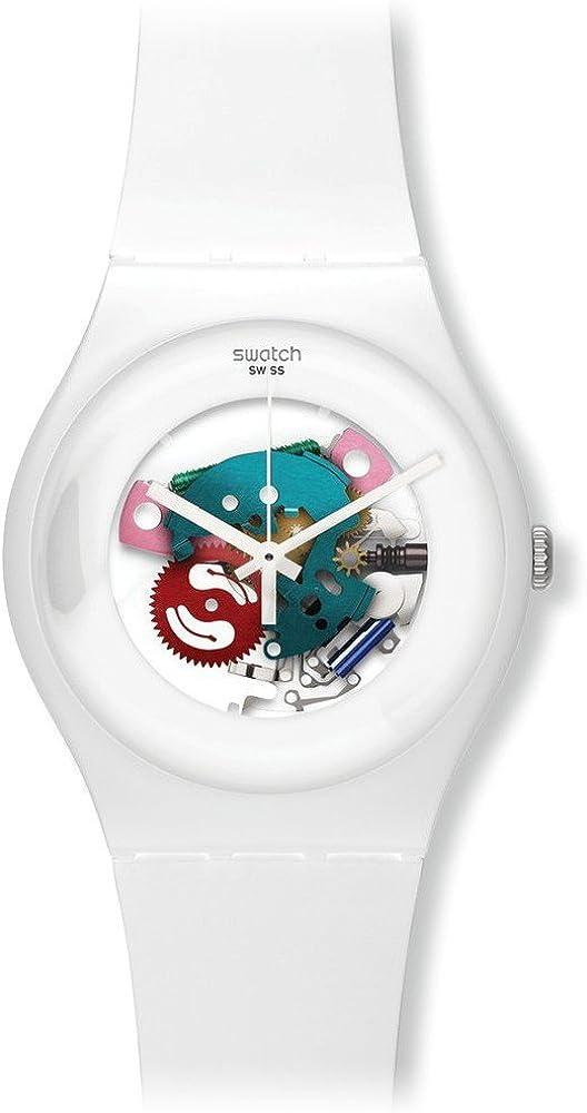 Swatch Reloj Analógico de Cuarzo Unisex con Correa de Plástico – SUOW100