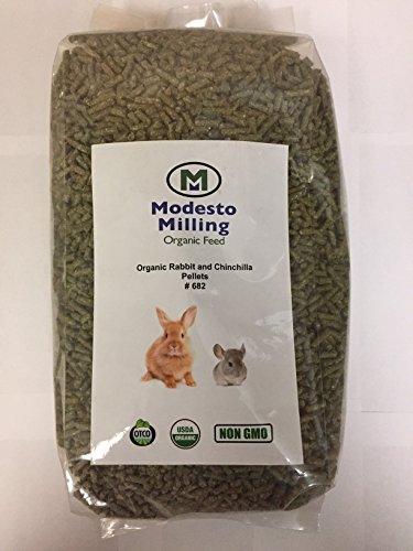 - Modesto Milling Organic, Non GMO Rabbit & Chinchilla Pellets,10 lbs; Item# 682