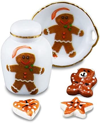 Dollhouse Miniature Set of 10 Large Christmas Gingerbread Cookies