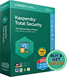 Kaspersky Total Security Latest Version- Multidevice- 2 Users, 1 Year (2 Split Keys Inside) (CD)