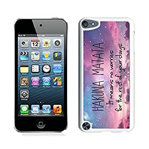 Elite Case for Apple ipod Touch 5,Hakuna Matata ipod touch 5 Case White Cover