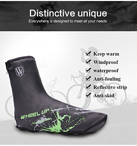 Fans Men and women general ski climbing bike shoe cover, windproof waterproof shoe cover, hiking, skiing, rock climbing, hunting, rain and snow and cold shoe cover thick outdoor sports