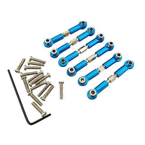 Fytoo 6PCS Remote control car metal upgrade accessories full set metal rod steering rod for Wltoys A949 A959 A969 A979 K929 A959-B A969-B A979-B K929-B Rc car upgrade parts ()