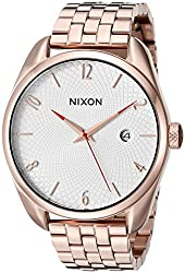 Nixon Women's 'Bullet, All' Quartz Stainless Steel Automatic Watch, Color:Gold-Toned (Model: A418-502-00)