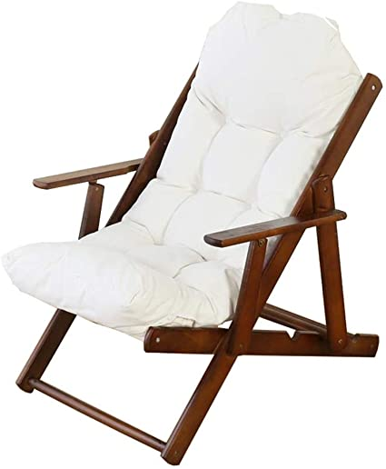 INMOZATA Folding Lounge Chair with Footstool Lazy Chair Sun Recliner Leisure Chair Moon Chair for Indoor Outdoor Garden Camping Coffee