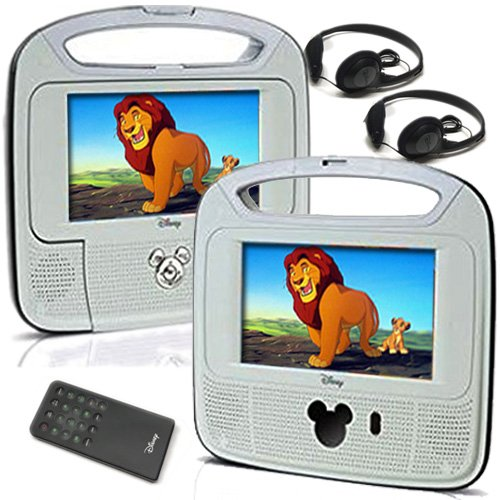 "Disney 7""inch Dual Screen Widescreen LCD Mobile DVD Player"