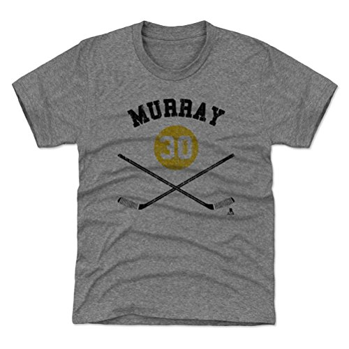 500 LEVEL Pittsburgh Hockey Youth Shirt - Kids Medium (8Y) Tri Gray - Matt Murray Sticks Y