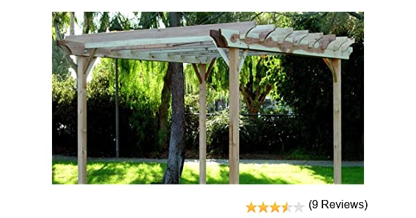 Jardín Craft LLC 10 x 12-Feet Redwood Pérgola de jardín, 10 x 12-Feet: Amazon.es: Jardín