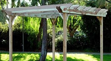 Awesome Garden Craft LLC 10 X 12 Feet Redwood Garden Pergola, 10x12 Feet