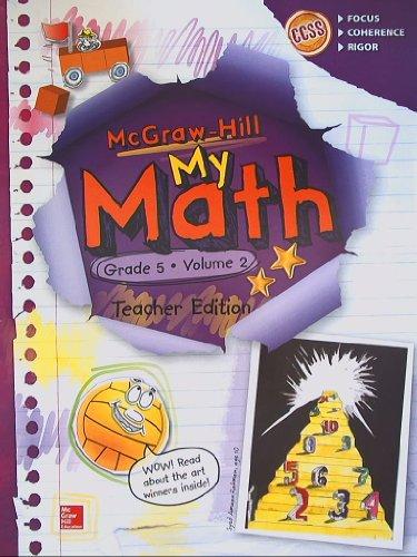 McGraw-Hill My Math, Grade 5 Volume 2, Teacher Edition, CCSS Common Core