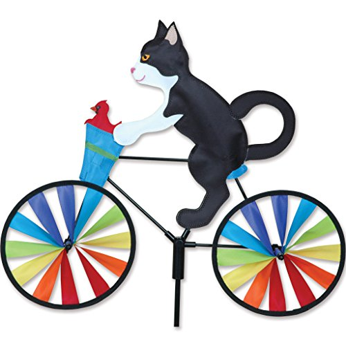 20 In. Bike Spinner - Tux Cat (Ornament Spinner Wind)