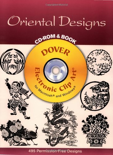Oriental Designs CD-ROM and Book (Dover Electronic Clip Art) - Rocket Clipart