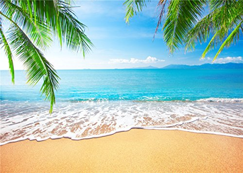 GYA Tropical Beach Background Photo Props For Studio,Wedding,Party Photography Backdrops Vinyl 7x5ft]()