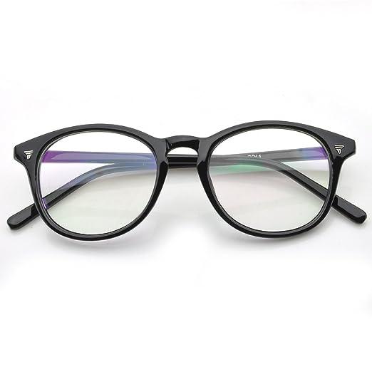 Amazon.com: PenSee Womens Inspired Eyeglasses Glasses Frame Round ...