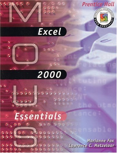 Read Online MOUS Essentials: Excel 2000 with CD pdf epub