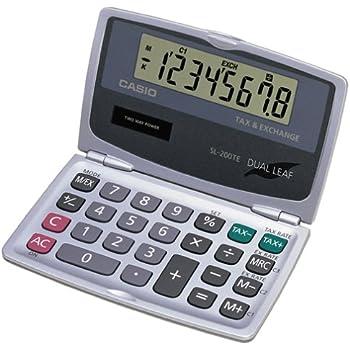 Casio SL-200TE Solar DualLeaf Pocket Calculator