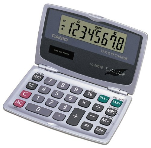 Casio SL 200TE DualLeaf Pocket Calculator