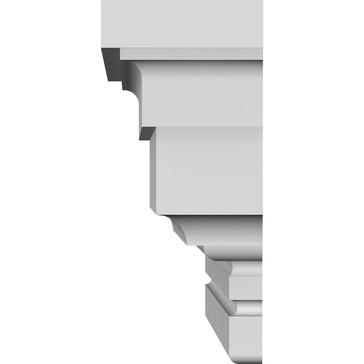 Factory Primed White Ekena Millwork CRH04X50ST 50 Bottom 52 1//2 Top Width x 3 7//8 H x 1//4 P Standard Crosshead Width Width