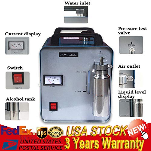 Acrylic Polishing Machine,Portable 300W Oxygen Hydrogen Flame Generator Acrylic Polishing Machine 75L 110V Flame Gun USA STOCK