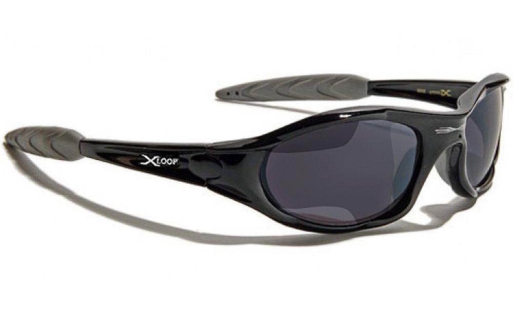 Occhiali da Sole X-Loop - Sport - Ciclismo - Sci - Running - Moto - Arrampicata - Moda / Mod 010P Nero Grigio Xloop