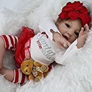 Silicone Reborn Baby Lifelike Girl Dolls Little helper Baby Alive Stuffed Body22-Inch by NPK