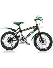 YFNIAO للجنسين الشباب قرص الفرامل دراجة جبلية الشباب 18 بوصة، أخضر، مقاس L
