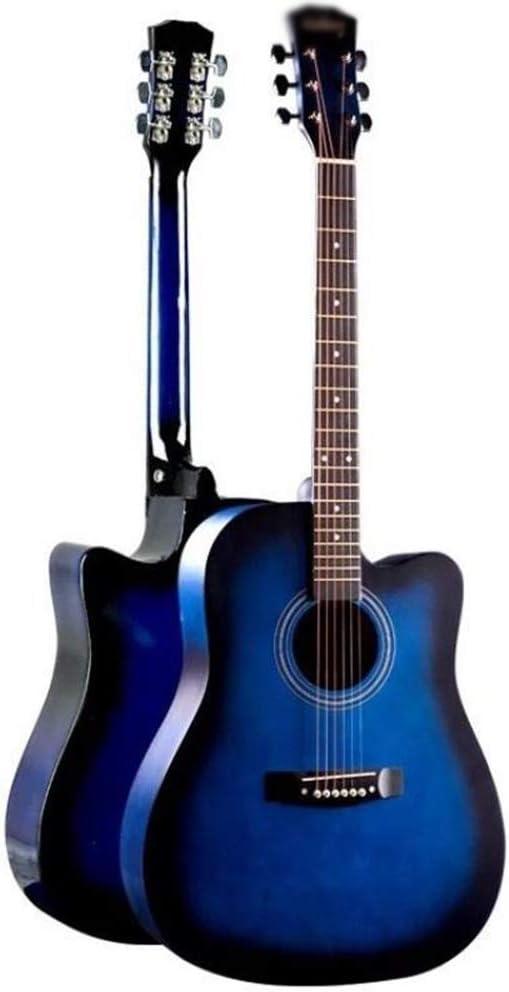Guitarra Acústica 41 Pulgadas Guitarra Clásica Cuerda De Acero Guitarra De Madera Abeto Chapa Kit De Inicio con Bolsa Estanca Sonido Completo Guitarra Portátil para Adulto, 4 Colores Gdming