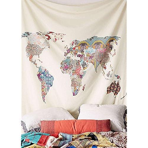 World Map Tapestry Amazon Com