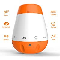 Rechargeable Baby Sleep Soother Shusher, Portable White Noise Sound Machine for Sleeping, Sleep Therapy for Home, Office, Baby, Travel, 6 Relaxing & Soothing Nature Sounds