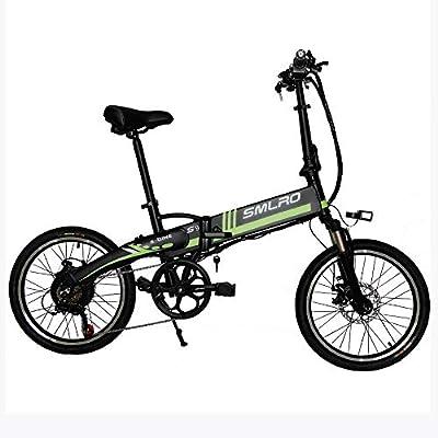 AUGU Bicicleta eléctrica Plegable Bicicleta eléctrica 36V 8AH 20 ...