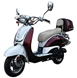 CLASSIC VESPA RETRO STYLE SCOOTER - High Power Scooter 2 Tone Color Available PRO MCR-16C-150 4 Stroke 150cc Gas Scooter