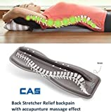 CAS Back Stretcher With Accupunture Massage Effect Patented Relief Backpain and relex massage muscle spine health 215 x 617 x 70mm(8.4'' x 24.3'' x 2.7'')