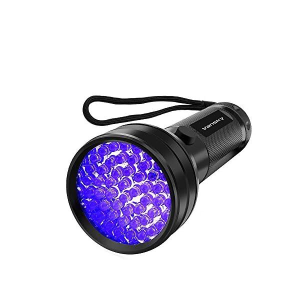 UV Flashlight Black light UV Lights , Vansky 51 LED Ultraviolet Blacklight Pet Urine Detector For Dog/Cat Urine,Dry Stains,Bed Bug, Matching with Pet Odor Eliminator