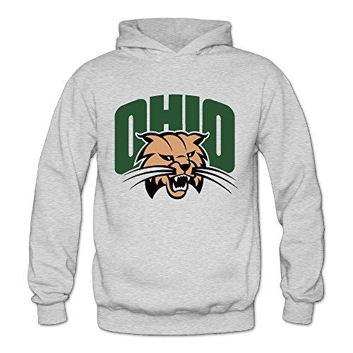 Bro-Custom Ohio Bobcats University Hoodie For Women Size M Ash