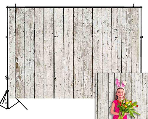 Funnytree 8X6FT Durable Fabric Vintage Wood Backdrop Wooden Board Photography Rustic Faux Panel Flat Background Portrait Retro Texture Photo Booth Studio Poster Photoshoot Photografia Decoration