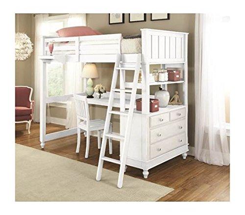 NE Kids Twin Loft Bed with Desk
