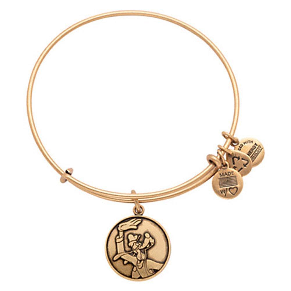 Disney Parks Alex and Ani Goofy Gold Charm Bracelet